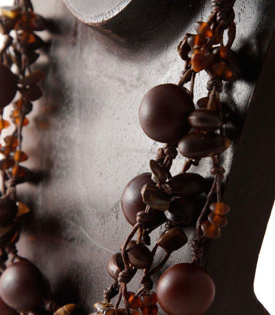 Natural Knotted Necklace-Khmer Creations-Temples and Markets