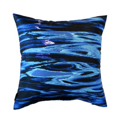Night River Blue Cushion Cover-CUSHnART-Temples and Markets