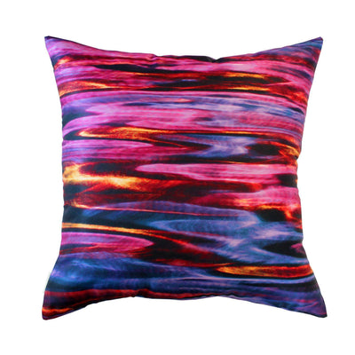 Night River Pink Cushion Cover-CUSHnART-Temples and Markets