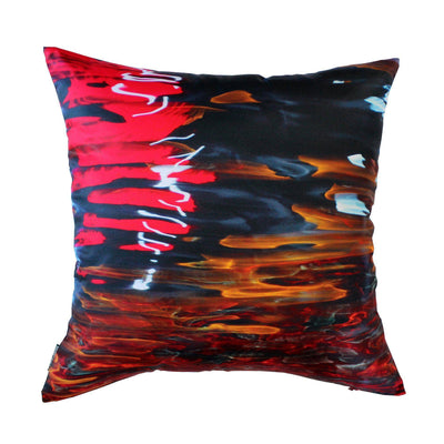Night River Red Cushion Cover-CUSHnART-Temples and Markets