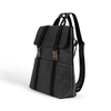Omer Black Backpack made from Washable Paper, an eco-friendly alternative to leather-Pretty Simple Bags-Temples and Markets