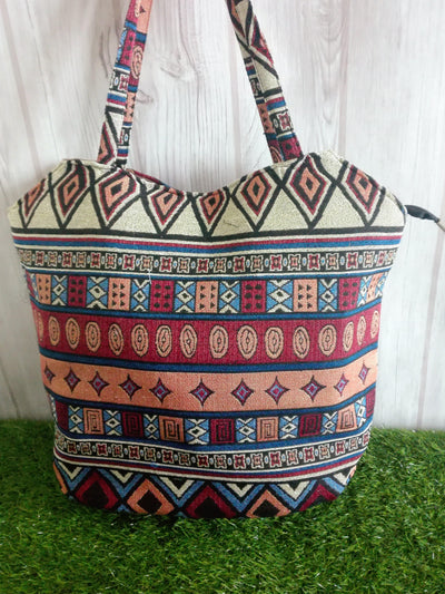 Patchwork, Embroidered and Beaded Tribal Style Tote Bag-Bags-Malee Bags-Temples and Markets