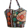 Patchwork, Embroidered and Beaded Tribal Style Tote Bag-Malee Bags-Temples and Markets