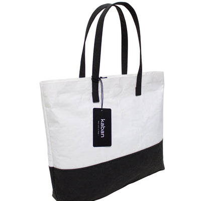 Phaedra Two-Tone Metallic Washable Paper Tote Bag-Kaban-Temples and Markets