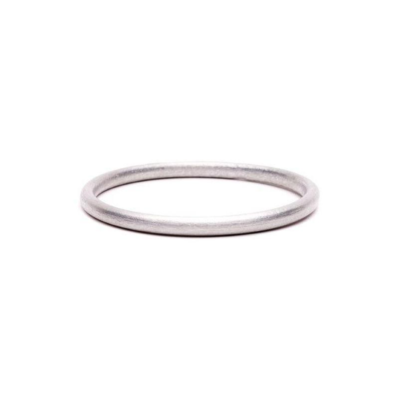 LOVEbomb Plain Silver Bangle fashioned from recycled aluminium