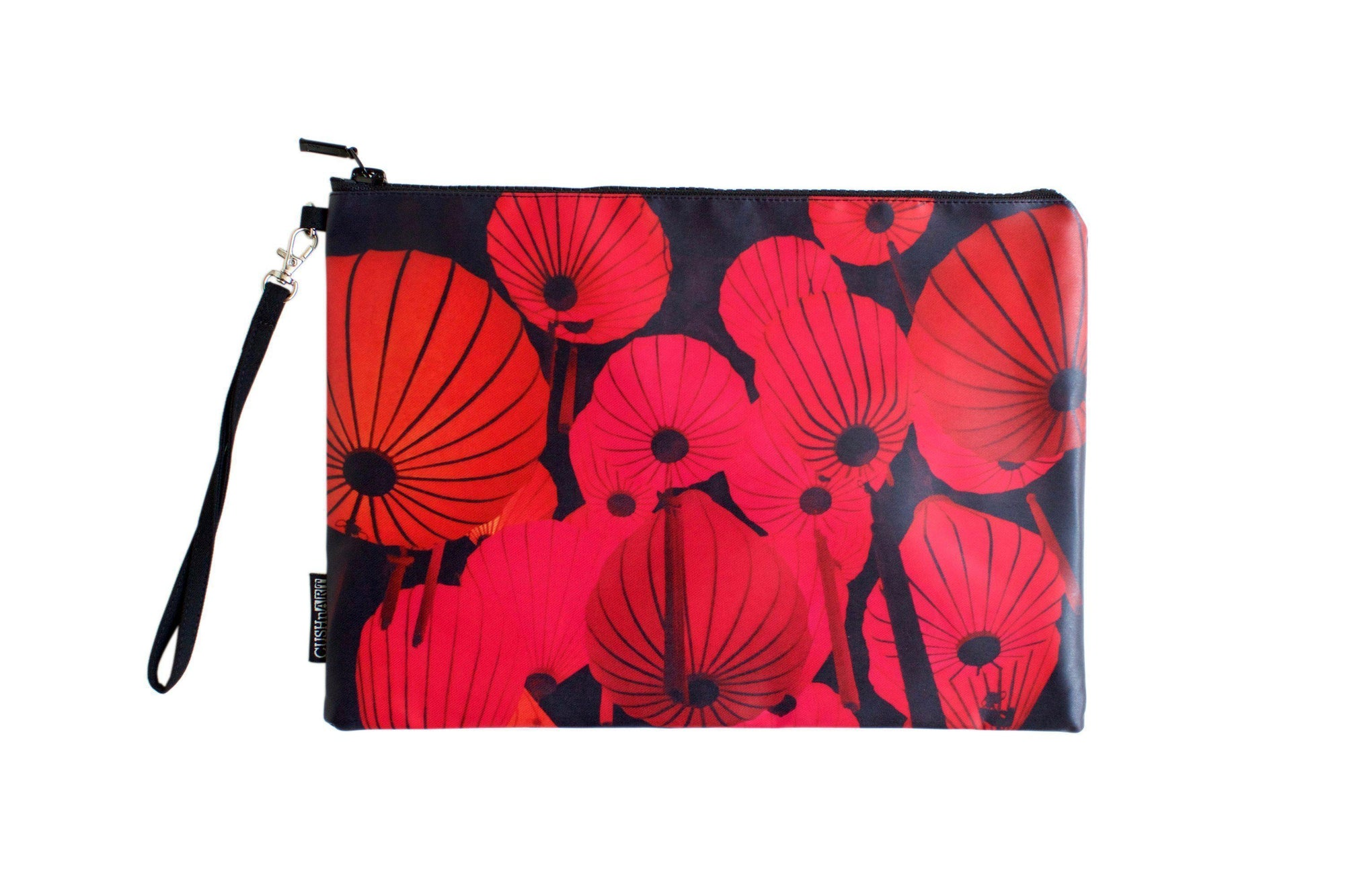 Red Lantern Water Resistant Clutch-CUSHnART-Temples and Markets