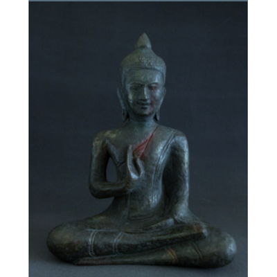 Seated Buddha Figurine - made in papier mâché-Jayav Art-Temples and Markets