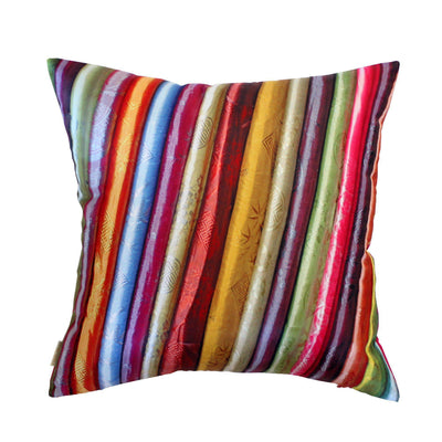 Silk Scarves Design Cushion Cover-CUSHnART-Temples and Markets