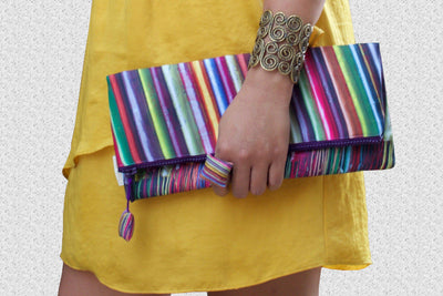 Silk Scarves Evening Clutch Bag-CUSHnART-Temples and Markets