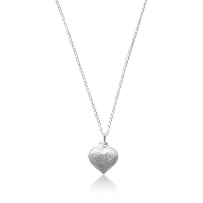 Solid Heart Sterling Silver Necklace-LOVEbomb-Temples and Markets