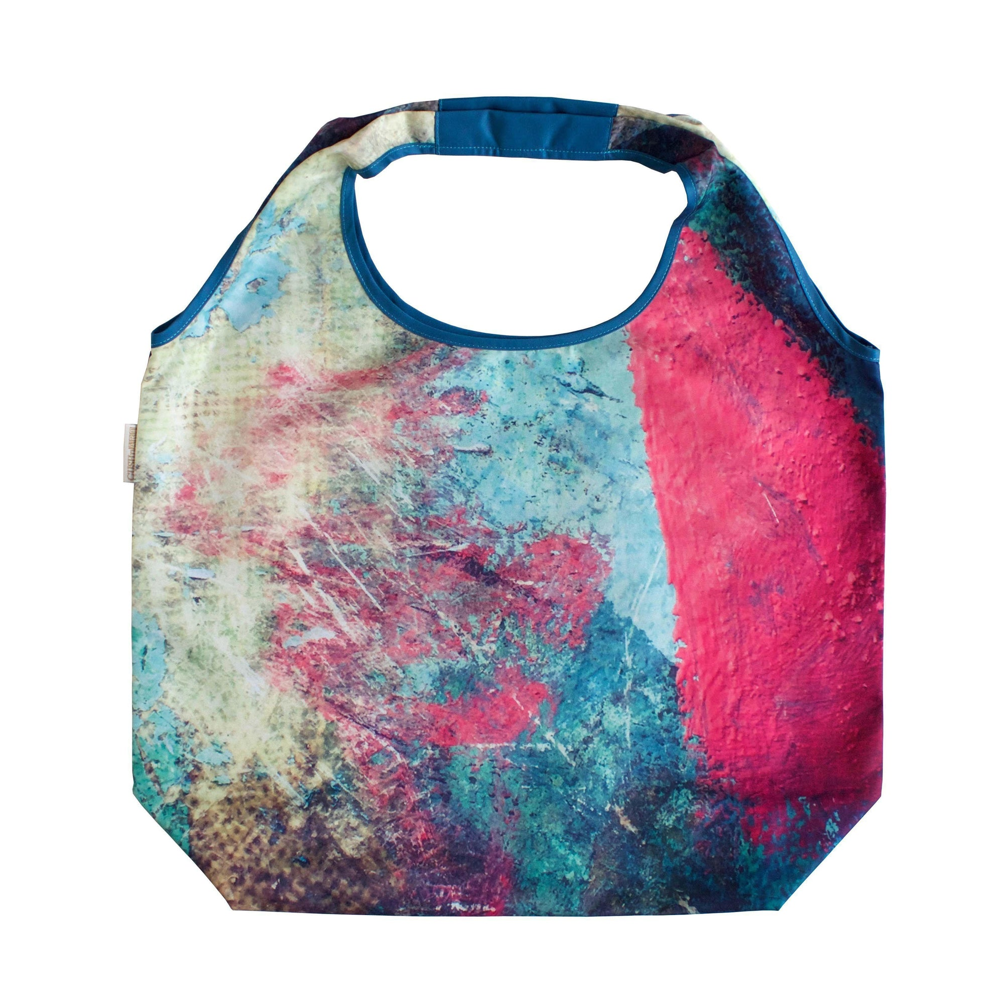 Splash Paint Foldable Tote Bag-CUSHnART-Temples and Markets