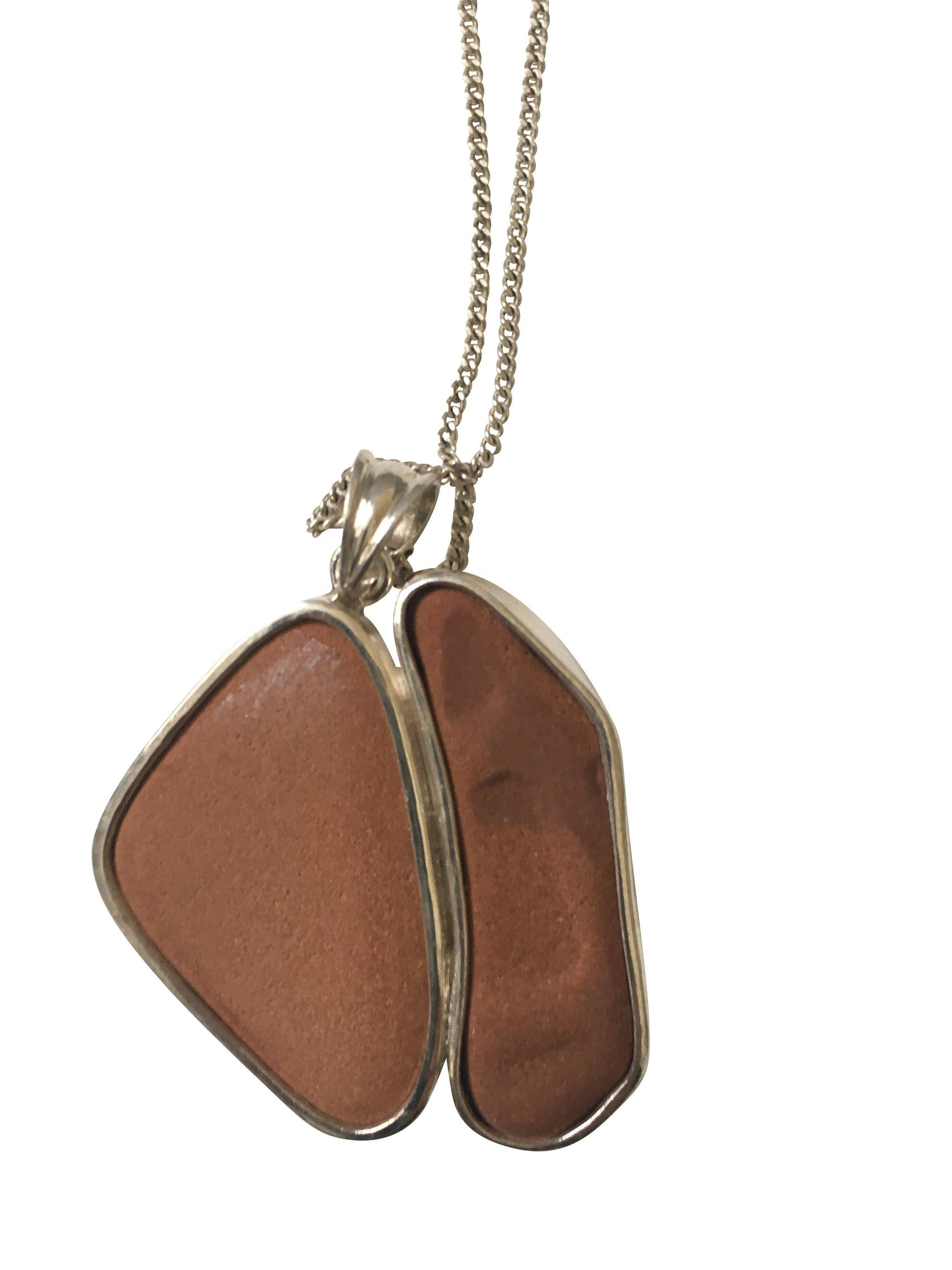 Sterling Silver and Terracotta Large Pendant-Future Traditions-Temples and Markets