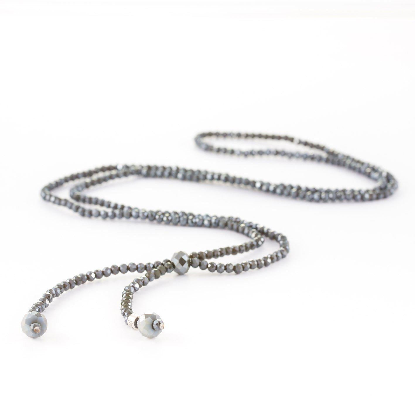 Stones that Rock Dotty Long Crystal Knot Necklace-Stones that Rock-Temples and Markets