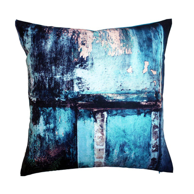 Teal Wall Cushion Cover-CUSHnART-Temples and Markets