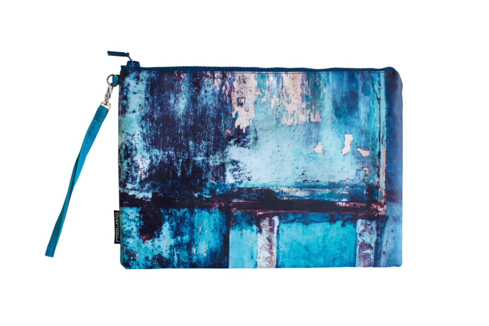 Teal Wall Water Resistant Clutch