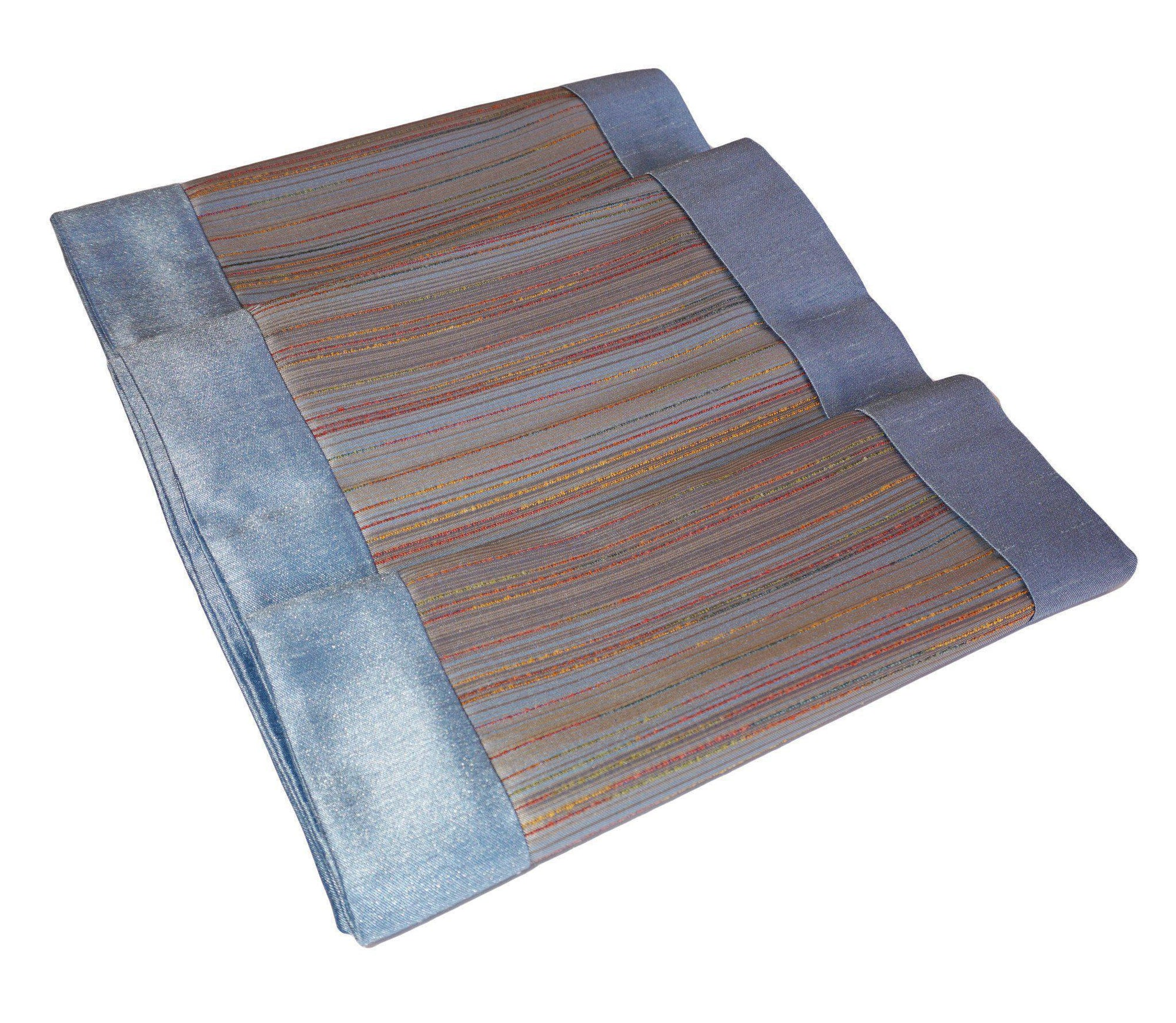 Thai Silk Blue Striped Runner-Chay Chay Silk-Temples and Markets