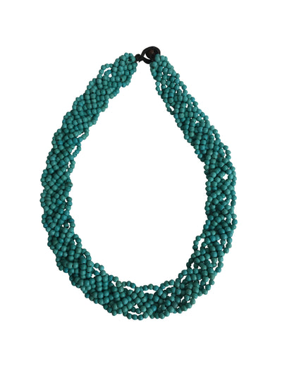 Turquoise Lava Stone Choker Necklace-Graines de Cambodge-Temples and Markets