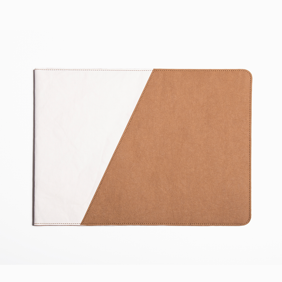 Two Tone Shugi Laptop Sleeve made from Washable Paper, an eco-friendly alternative to leather
