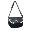 Valerie Cordier Claudio Ha Giang Black and Grey Saddle Shoulder Bag-Valerie Cordier-Temples and Markets