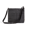 Vanvan Black Cross Body Bag made from Washable Paper, an eco-friendly alternative to leather-Pretty Simple Bags-Temples and Markets