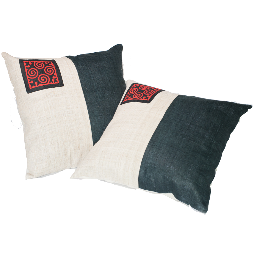 Yin and Yang Cushion Cover-Villagecraft Planet-Temples and Markets