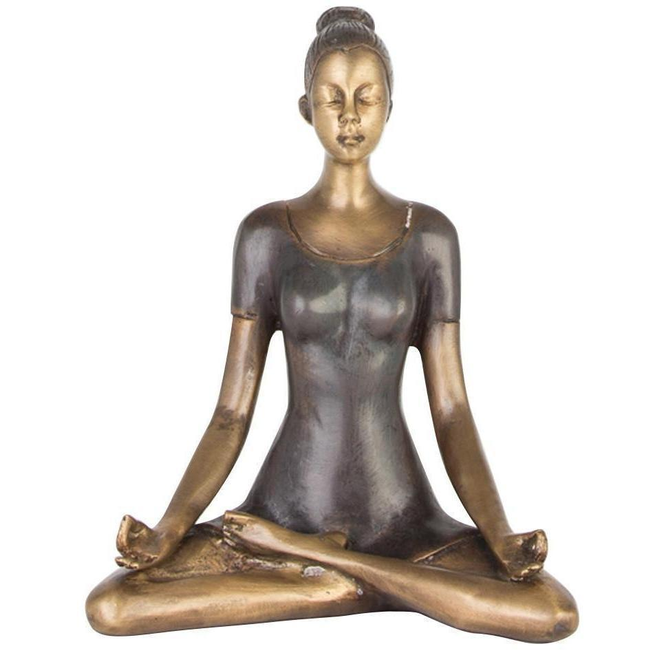 Yoga Lady Bronze Figurine - choose from a variety of poses-BIG SMILE HOMEWARES-Temples and Markets