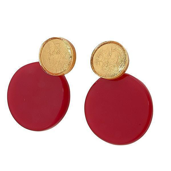 Zsiska A Round Two Tone Circular Earrings - choose your colour combination-Jewellery-Zsiska-Temples and Markets
