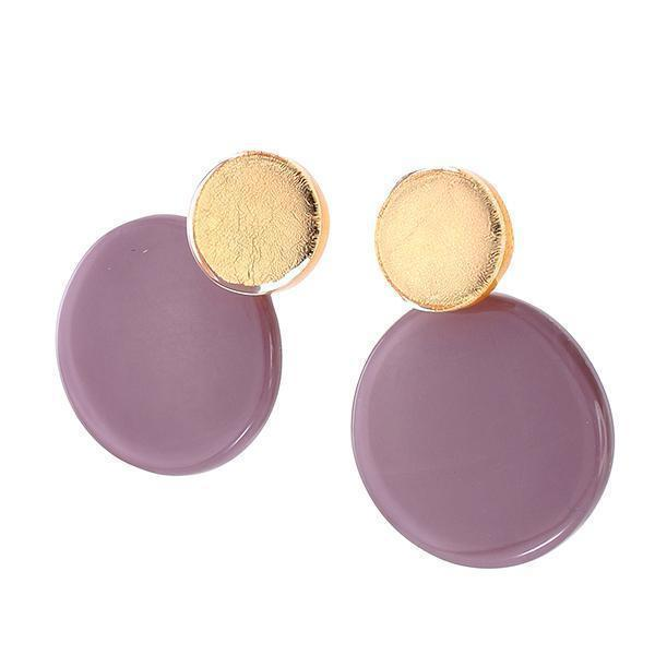 Zsiska A Round Two Tone Circular Earrings - choose your colour combination