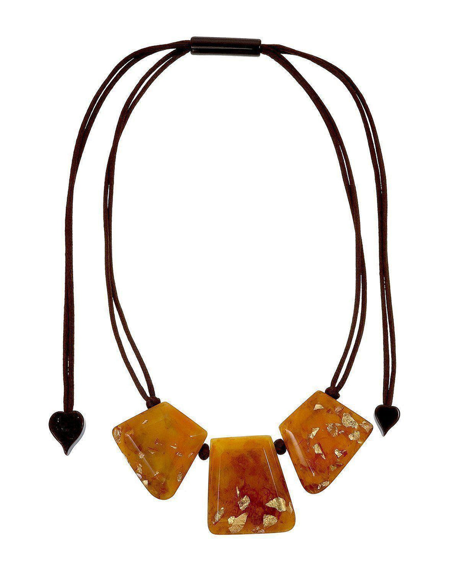 Zsiska Autumn Amber Necklace-Jewellery-Zsiska-Temples and Markets