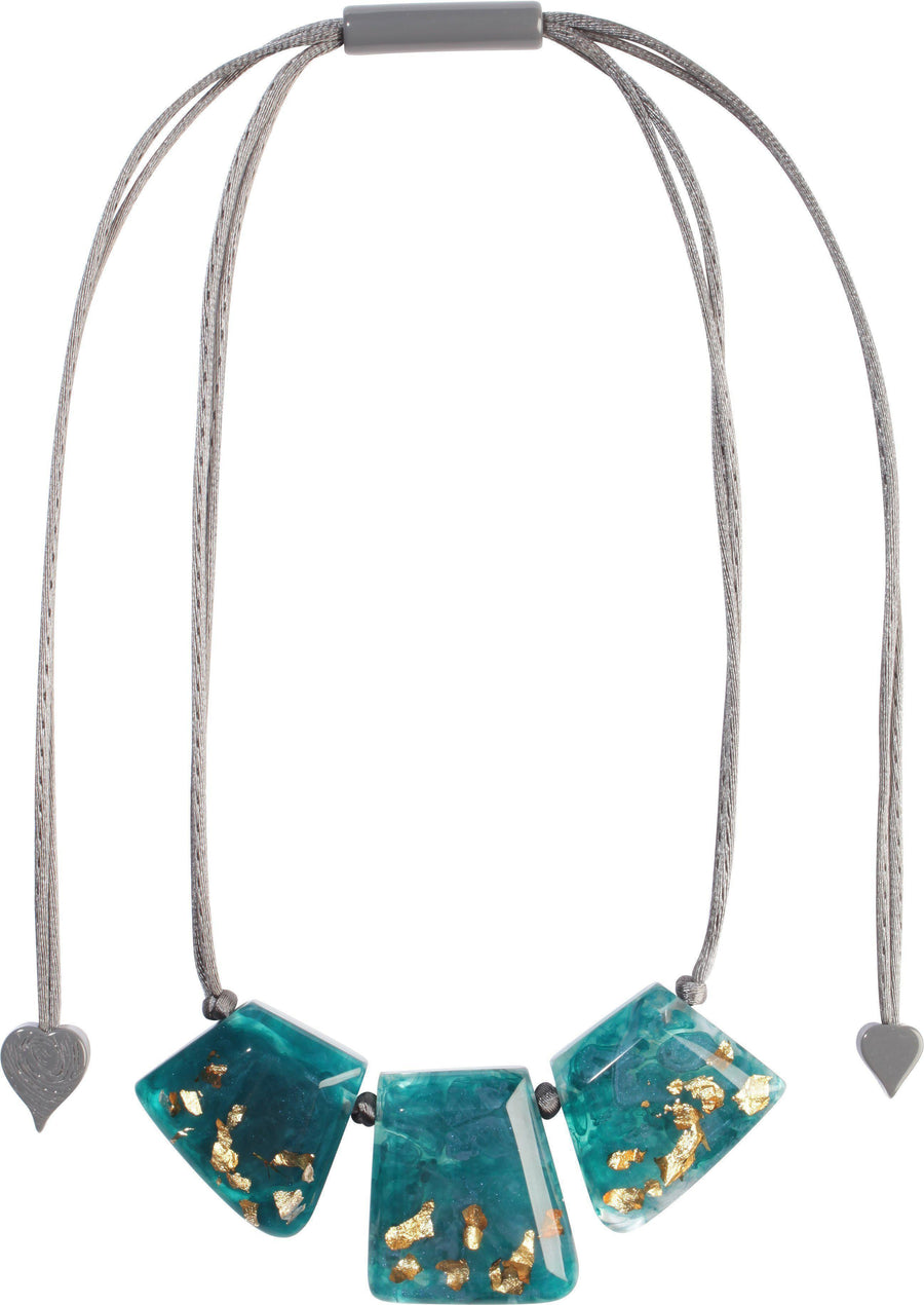Zsiska Autumn Teal Blue Necklace-Jewellery-Zsiska-Temples and Markets