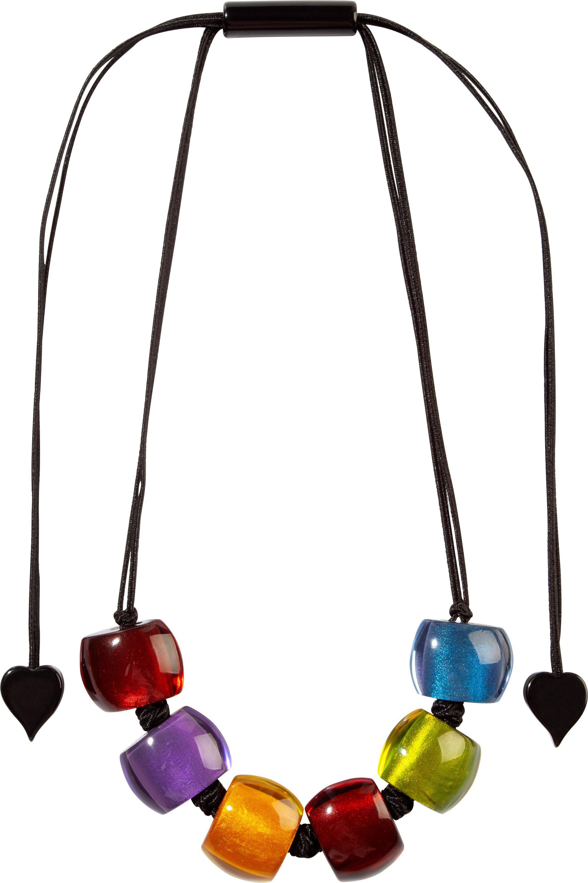 Zsiska Bellissima Multi-Coloured Beaded Adjustable Necklace-Jewellery-Zsiska-Small Bead-Temples and Markets