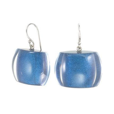 Zsiska Bellissima Resin Bead Drop Earrings in a choice of colours-Jewellery-Zsiska-Blue-Temples and Markets