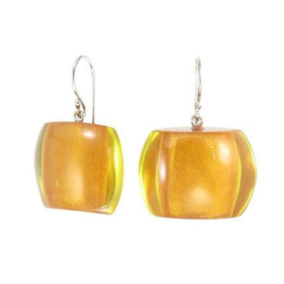 Zsiska Bellissima Resin Bead Drop Earrings in a choice of colours-Jewellery-Zsiska-Orange-Temples and Markets