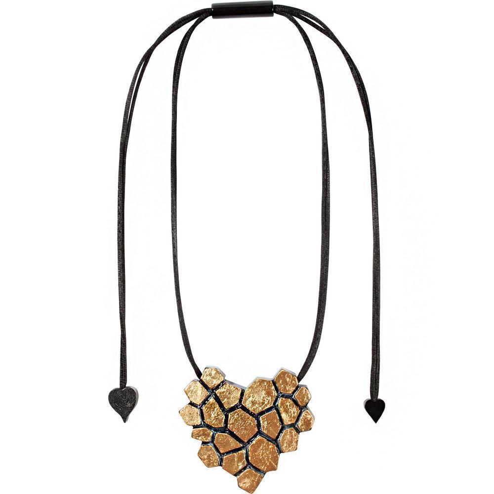 Zsiska Blocks Gold Pendant