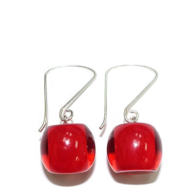 Zsiska Colourful Bead Drop Earrings-Jewellery-Zsiska-Red-Short Drop-Temples and Markets