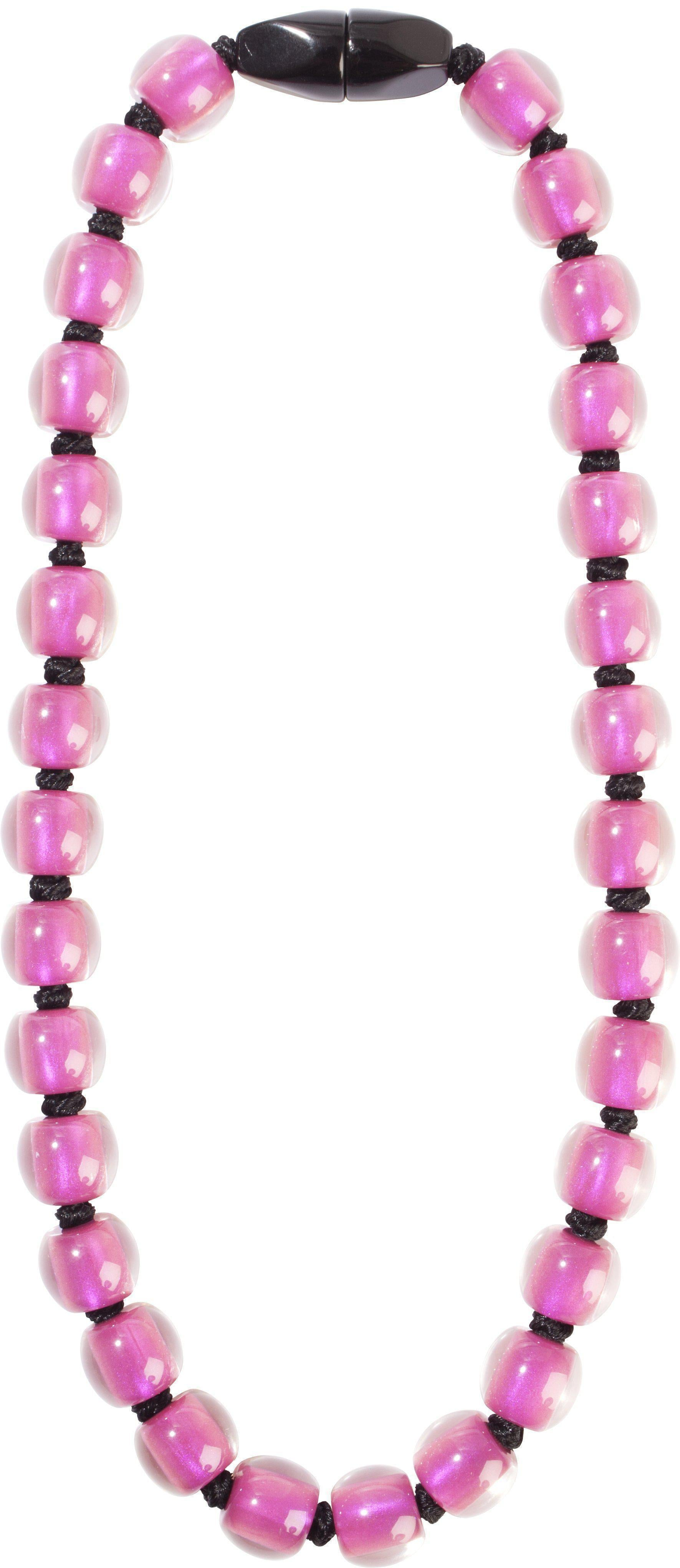 Zsiska Colourful Beads Plain Necklace-Jewellery-Zsiska-30 beads-Pink-Temples and Markets