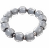 Zsiska Colourful Beads Soft Grey Bracelet-Zsiska-Temples and Markets