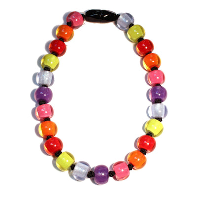 Zsiska Colourful Beads Spectrum Necklace-Jewellery-Zsiska-1.2cm wide-Temples and Markets