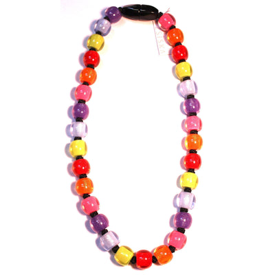 Zsiska Colourful Beads Spectrum Necklace-Jewellery-Zsiska-1.6cm-Temples and Markets