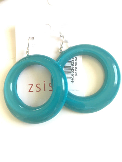 Zsiska Colourful Statement Circle Drop Earrings-Jewellery-Zsiska-Temples and Markets
