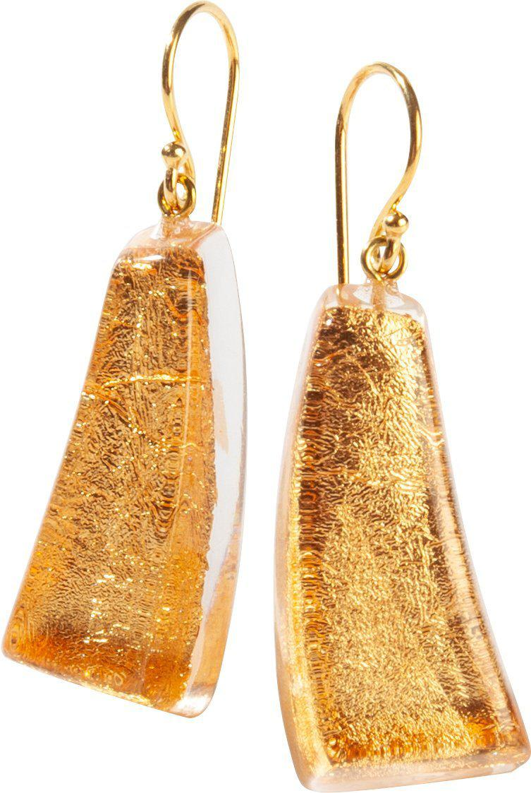 Zsiska Emocion Gold Drop Earrings-Jewellery-Zsiska-Temples and Markets