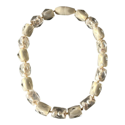 Zsiska Frozen Pearls Necklace-Jewellery-Zsiska-White-19-Temples and Markets