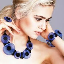 Zsiska Galaxy Blue Button Earrings-Jewellery-Zsiska-Temples and Markets