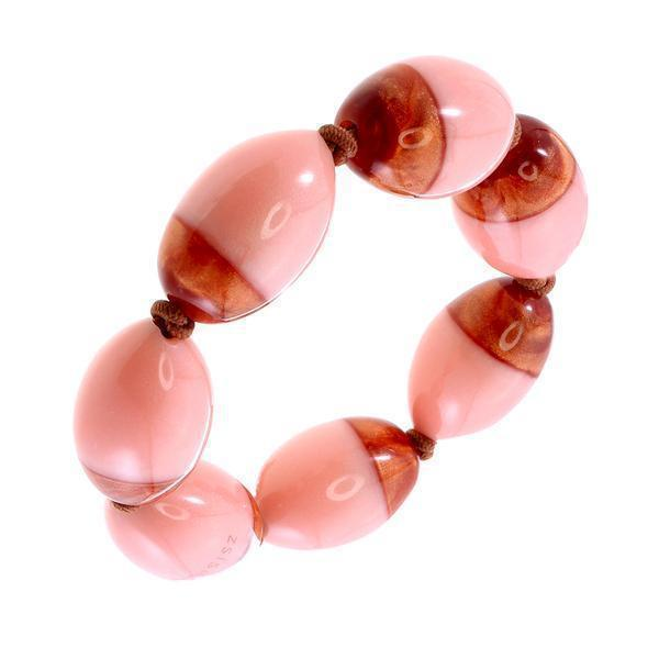 Zsiska Heritage Pink and Copper Bracelet-Jewellery-Zsiska-Temples and Markets