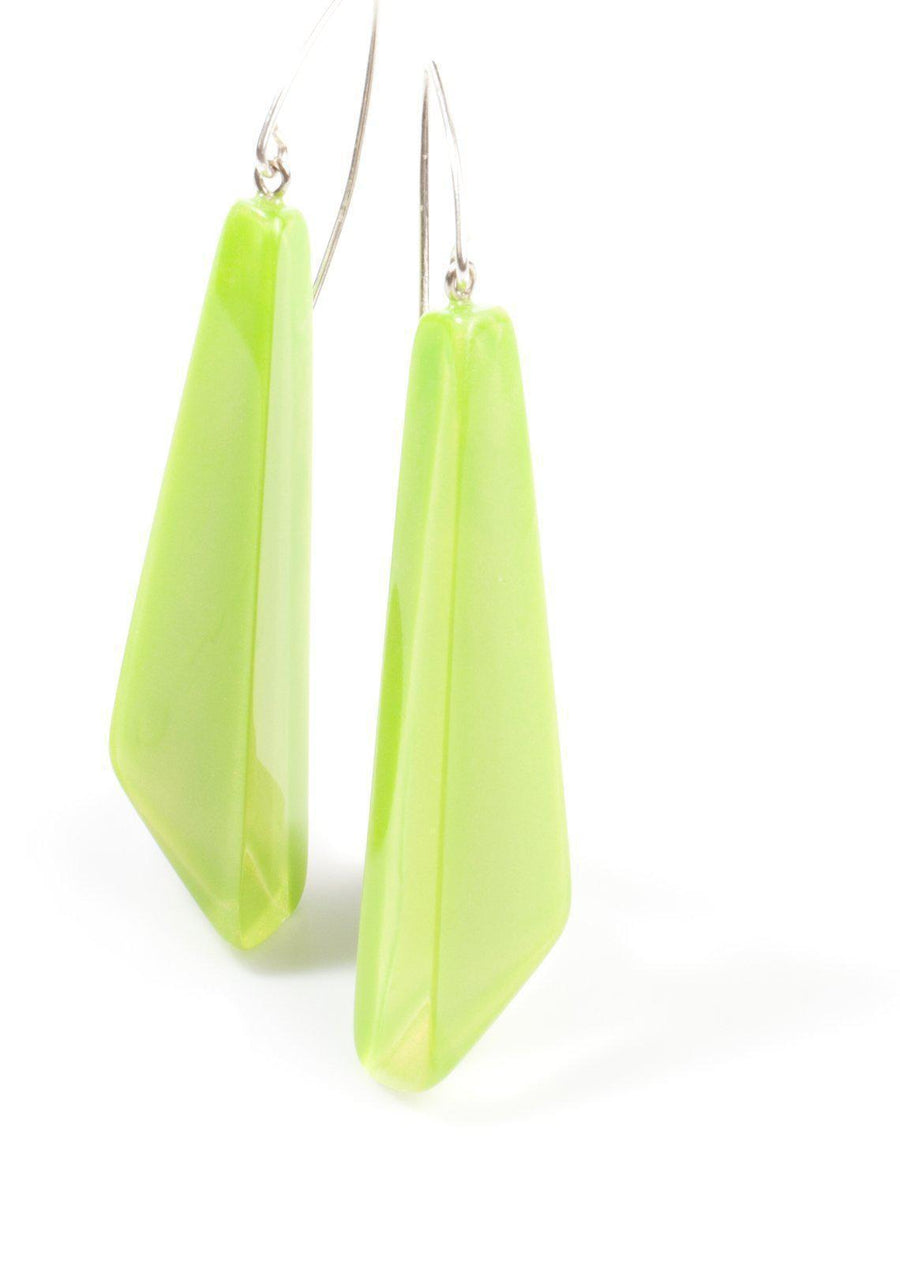 Zsiska Iceberg Collection - Lime Green Earrings-Jewellery-Zsiska-Temples and Markets