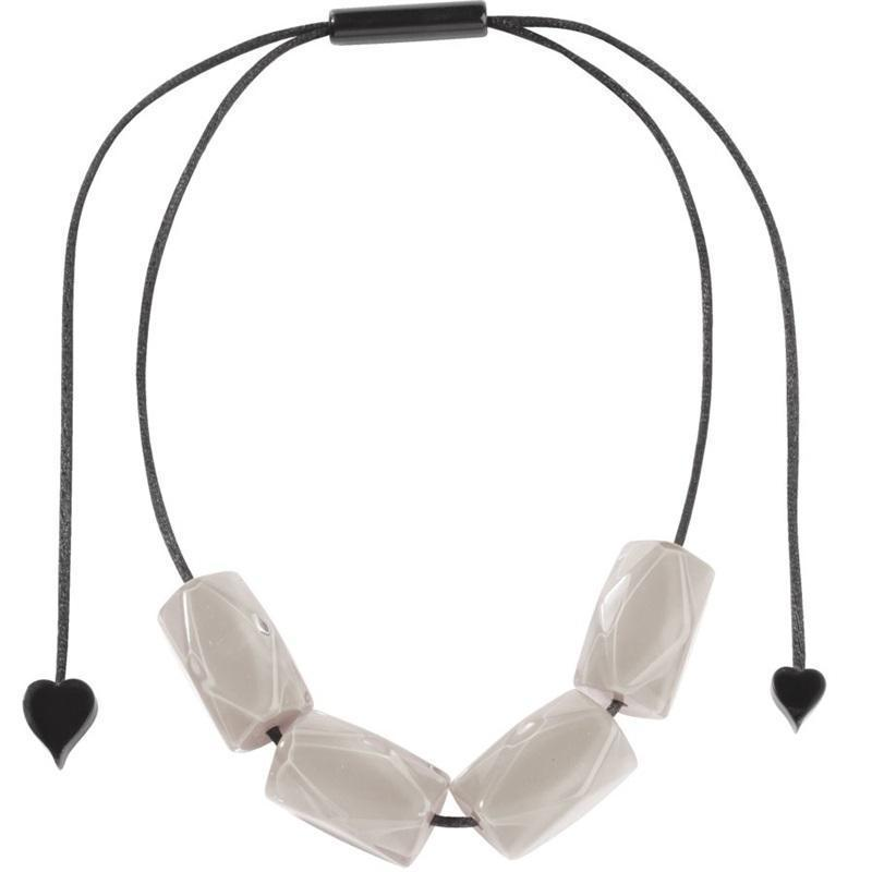 Zsiska Luce White Necklace-Jewellery-Zsiska-Temples and Markets