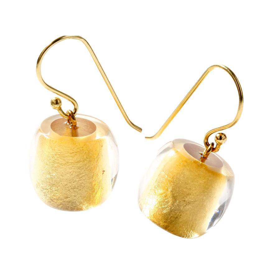 Zsiska Precious Gold Bead Short Drop Earrings-Zsiska-Temples and Markets