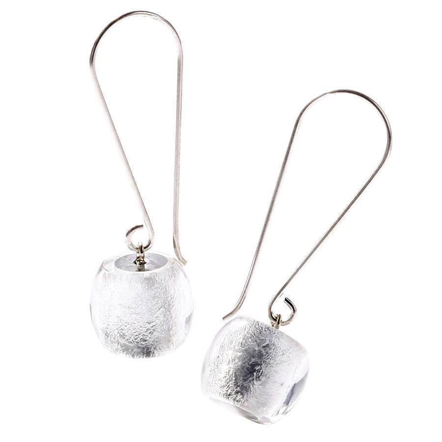 Zsiska Precious Silver Bead Long Drop Earrings-Zsiska-Temples and Markets