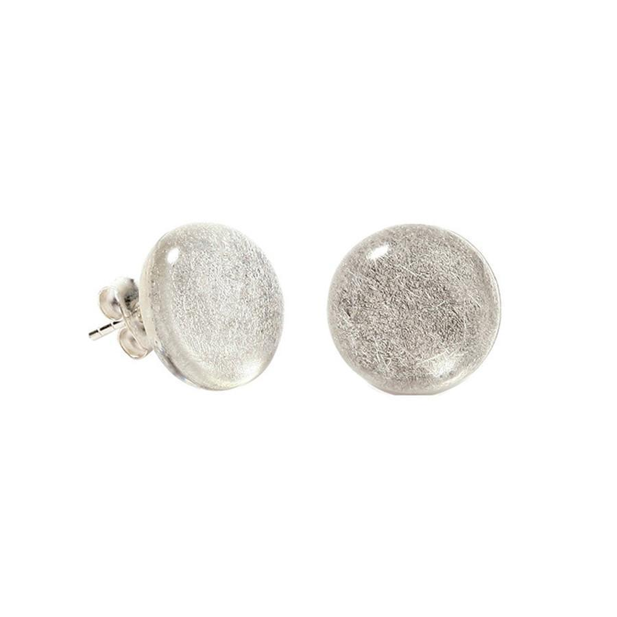 Zsiska Precious Silver Earrings - Large Stud-Zsiska-Temples and Markets