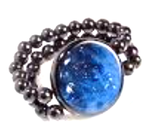 Zsiska Sky Blue and Silver Elasticated Bead Bracelet-Jewellery-Zsiska-Temples and Markets